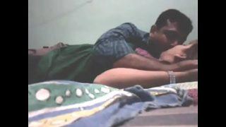Desi couple enjoying in hotel room