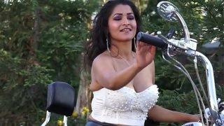 Desi Dhabi gets naked on Motorcycle MMS – Maya