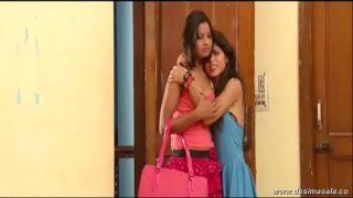 desi Indian lesbian girls romance on bed