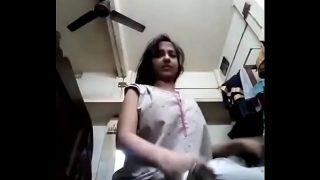 Desi striptease of a booby girl