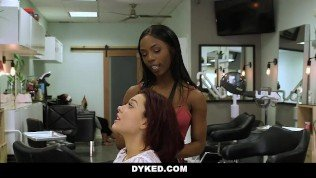 Dyked – Straight Teen Girl Seduces By Hot Ebony Stylist