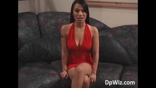 Horny babe Lucy gets hard double