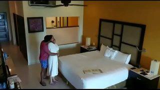 Spy camera caught husband wife having sex in hotel room